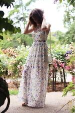 $350 Free People Cherry Blossom Maxi Dress 6 Medium Spring Garden Party Prom NWT