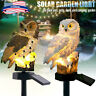 Solar Powered Garden Decor Owl Lamp Path Lawn Yard LED Outdoor Landscape Lights