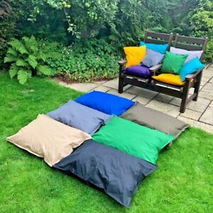 LARGE FILLED Outdoor Cushions WATERPROOF Floor Garden Cushion Pad 73 x 100cm