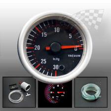"Vacuum turbo boost stepper motor gauge dash panel display 7 colour  52mm / 2"""