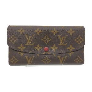 Louis Vuitton LV Long Wallet Portefeuille Emilie Rouge M60136 Monogram 1418146