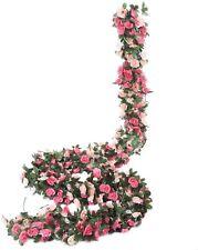 8 Pcs 8.2 Ft Flower Garland Fake Rose Vine Artificial Flower Hanging Rose Ivy