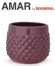 KONSIMO - AMAR Blumentopf Übertopf Blumenkübel Pflanztopf Keramik violett TOP!!!