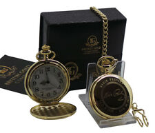 ELVIS PRESLEY Signed Pocket Watch and Gold Engraved Auto Luxury Gift Set Boxed