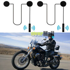 2x Rechargeable Motorcycle Helmet Headset Speaker Mic Bluetooth Handsfree Music