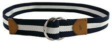 Polo Ralph Lauren Canvas Stripe Belt Blue & White Size Medium Mens RRP £80