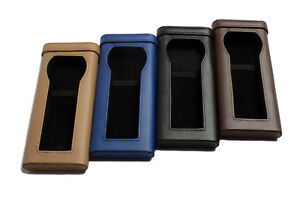 Faux Leather Watch Storage Travel Box Case 4 Colors