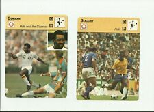 PELE 1977 LOT 2 SPORTSCASTER VINTAGE AND THE COSMOS BRAZIL