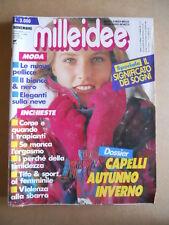 MILLEIDEE n°11 1991 - rivista di moda e lavori femminili  [G582]