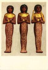 CPM EGYPTE Tutankhamen's Treasures. Three royal Shawabti of brownish w.(343514)