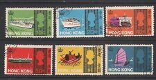 HONG KONG  1968  Sea Craft set  SG247-52  FU