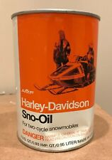 Vintage Harley-Davidson  2-Cycle Snowmobile Sno-Oil Metal Can Full