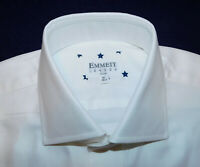 EMMETT OF LONDON WHITE DOTS DESIGN SHIRT - NWT - 15/38cm. - DESIGNER SHIRTS.