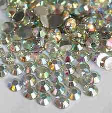 new 1000Pcs 4mm Nail Art Flatback Crystal 14 Facets Resin Round Rhinestone Beads