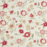 Clarke and Clarke Wildflowers Rouge Floral Curtain Upholstery Craft Fabric