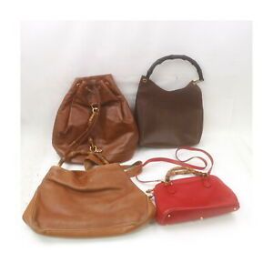 Gucci Leather Hand Bag Back Pack 4 pieces set 526141