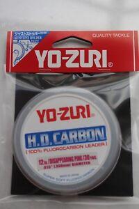 Yo Zuri  HD Flurocarbon - Pink - Ideal game, coarse and sea fishing leader 30yrd