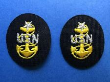 2 Lot Vintage US Navy Rank Seinor Chief Petty Officer SCPO Uniform Patches 214