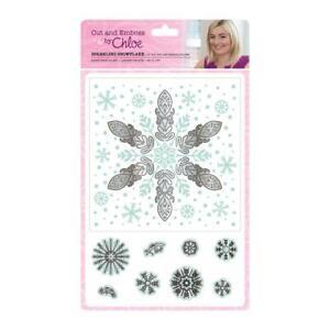 "Crafter s Companion Chloe Sparkling Snowflake Cut & Emboss Folder 6""x6"" 8PC SET"