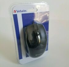 Verbatim Corded Wired Notebook Optical Mouse VTM98106 Black New Sealed