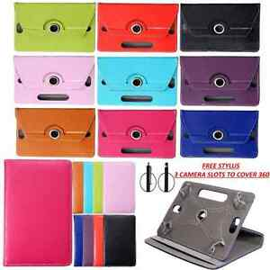 """360° Rotating Case Cover Stand Fits LINX 8 - 8"""" / 8.1"""" Inch Tablet with Free Pen"""
