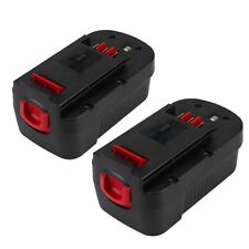 18v for Black & Decker Replacement Battery 3.0Ah Cordless Power Tools(2Packs)