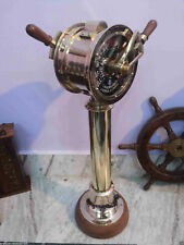 Vintage maritime brass ship's engine order telegraph collectible decorative