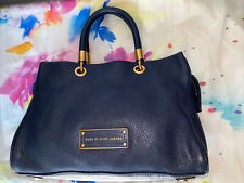 Marc By Marc Jacobs Blue Leather Satchel