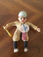 New York Yankees Vintage Doll / Figure With original Pin Very Rare 1950's