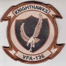 VFA-136 KNIGHTHAWKS DESERT COMMAND CHEST PATCH