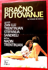 HONEYMOON TRIP 1976 FRENCH JEAN L.TRINTIGNANT S.SANDRELLI EXYU MOVIE POSTER