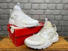 Nike Para Hombre Air Huarache Ultra Triple Blanco Zapatillas Varias Tallas RRP £ 100