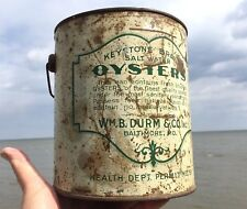 Very EARLY Extremely RARE KEYSTONE DURM'S BALTIMORE Oyster TIN PAIL Can Gallon