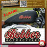 2 Stickers autocollant bobber motorcycles harley old school moto custom decal