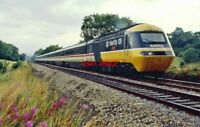PHOTO  CLASS 43 HST NO 43053 AT LICKEY.  HEADS NORTH. EARLY SUN. EVE. 29.7.90