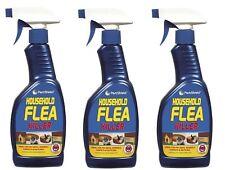 3 x Flea Killing Spray For Cat Dog Bed Carpet Furniture Kills Flea Larvae 500ml