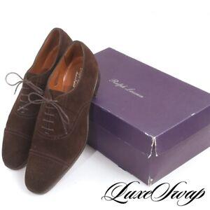 #1 MENSWEAR Ralph Lauren Purple Label England Edward Green 888 Suede Shoes 11.5