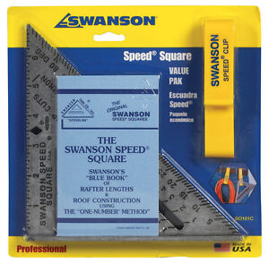 Swanson 7.25 in. L x .875 in. H Aluminum Speed Square Silver