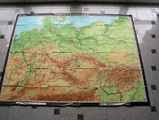 Deutschland 1937 1970 213x166c vintage germany wall card map B 德国 挂图  JA ドイツ 掛地図