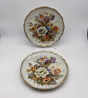 Ucagco Hand Painted Signed Decorative Plates Set Of 2 Vintage Made In Japan