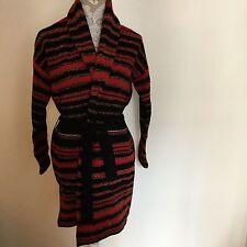 RAlph LAUREN Jeans Company blanket cardigan sweater Aztec tribal red black M med