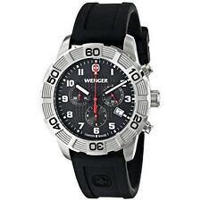 Wenger Roadster Chrono Men's Quartz Watch With Black Dial Chronograph Display an