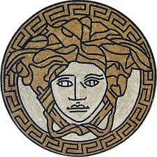 "52"" Handmade Medallion Marble Mosaic Pattern Floor Art Tile Stone Floral Decor"