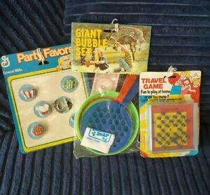Vintage Kids Toys Giant Bubble Wand Set General Mills Party Favors & Travel Game