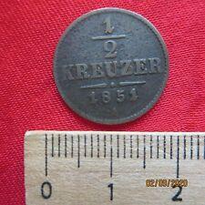 Österreich - Austria 1/2 Kreuzer 1851 A