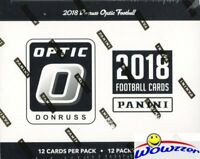 2018 Donruss Optic Football EXCLUSIVE Factory Sealed Jumbo FAT Cello Box-144 Crd