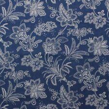 "Waverly Follow The Trail Denim Blue Jean Floral Multipurpose Fabric By Yard 54""W"