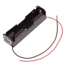 1x Plastic Battery Case Holder Storage Box For 18650 Batteries 3.7V & Wire Black
