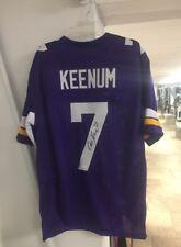Minnesota Vikings Case Keenum Autographed Custom XL Jersey JSA Cert