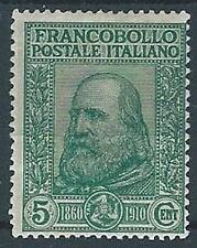 1908 REGNO GARIBALDI 5+5 CENT MH * - RR13253